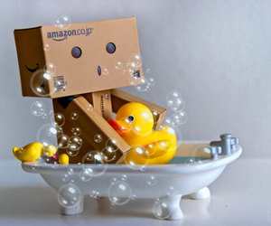 danbo, bath, and duck image