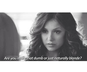 blonde, quote, and Vampire Diaries image