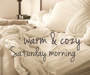 saturday, bed, and cozy image