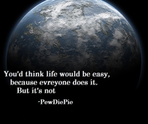 quote and pewdiepie image