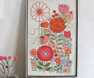bright, embroidery, and folksy image