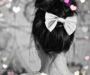 beauty, bow, and hairstyles image