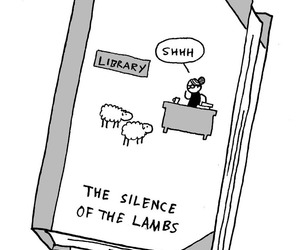 books, funny, and silence of the lambs image