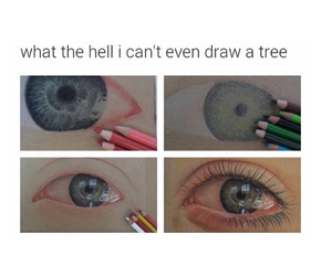 funny, drawing, and tree image