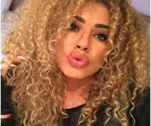 beauty, eyebrows, and curly hair image