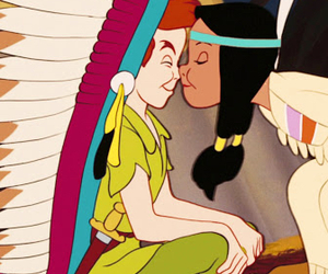 peter pan, disney, and kiss image