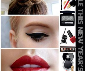 makeup, beauty, and dresses image