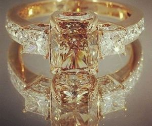 ring, gold, and diamond image