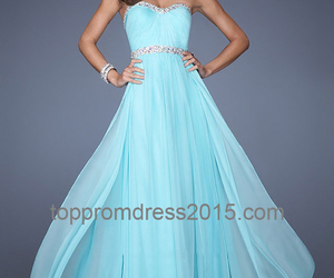 long, prom dresses, and strapless image
