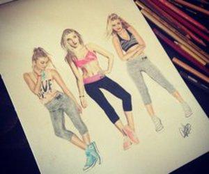art, girls, and motivation image