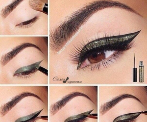 chicas, eyeliner, and girl image
