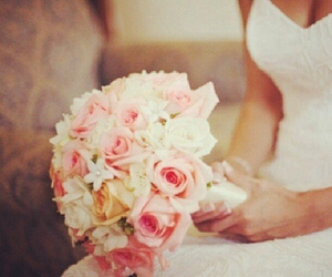wedding, flowers, and marry image