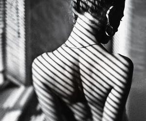 black and white and woman image