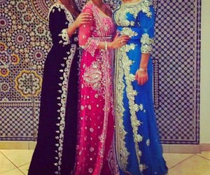 caftan, pink, and blue image