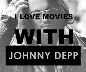 johnny depp, love, and movies image