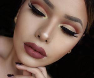 make up, eyebrows, and eyeliner image