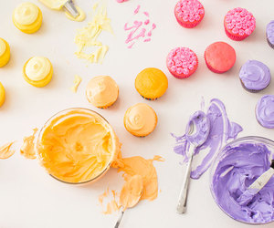 pretty, sweet, and icing cupcakes image