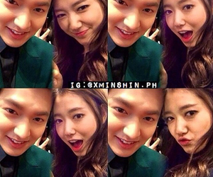 lee min ho and park shin hye image