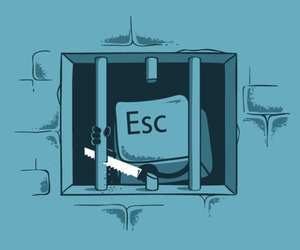 esc, prison, and escape image