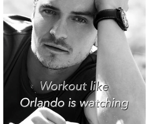 orlando bloom and workout image