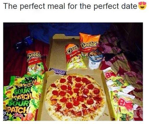 food, date, and pizza image