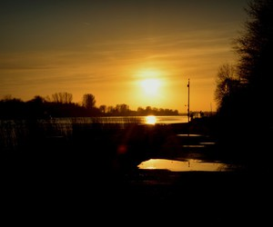 sonnenuntergang, sun, and water image