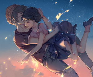 anime, couple, and zankyou no terror image