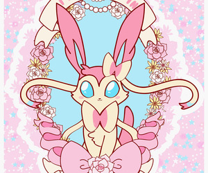 sylveon, kawaii, and pokemon image