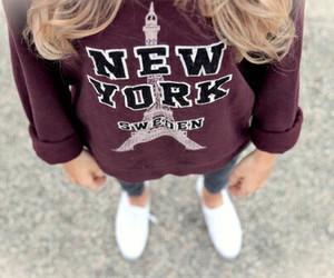 new york, girl, and fashion image