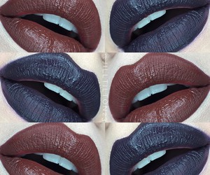 black lips, gothic, and make up image