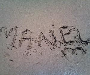 M, منال, and name image