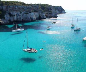 sea, summer, and boat image