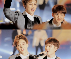 couple, cute boy, and exo image