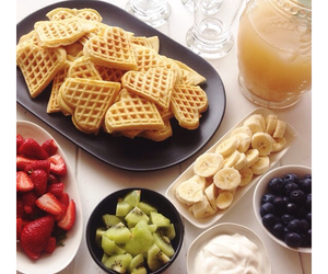 breakfast, cream, and FRUiTS image