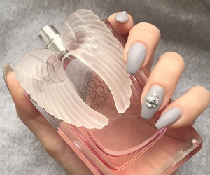 nails, perfume, and angel image