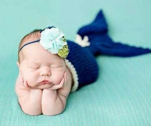 baby, cute, and mermaid image