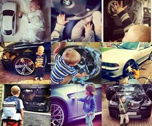 baby and bmw image