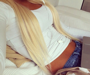 blonde, girl, and Hot image