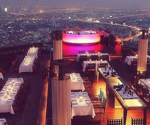 luxury, restaurant, and city image