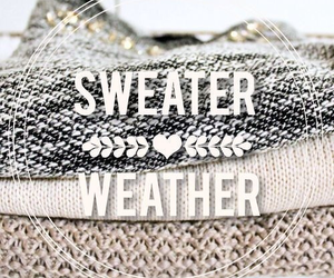 sweater, winter, and weather image