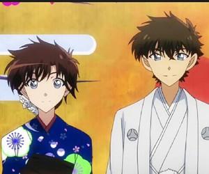 anime, kaito kuroba, and aoko nakamori image