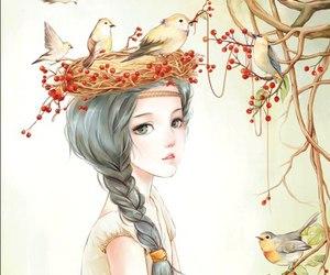 bird, anime, and art image