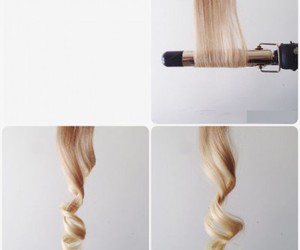 blond curlers image
