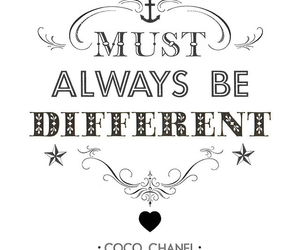 coco chanel, different, and quote image