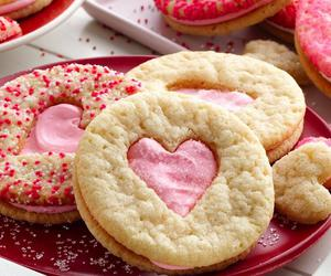 Cookies, pink, and sandwich image