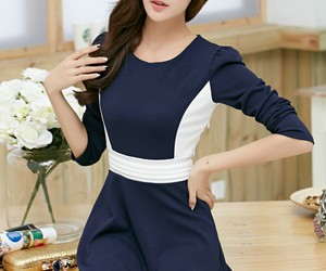 korean fashion and women dress image