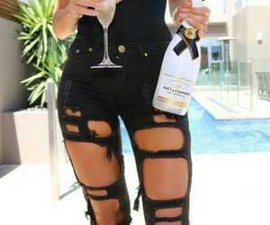 champagne, fashion, and jeans image