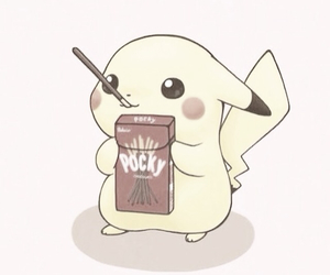 pikachu, pokemon, and pocky image