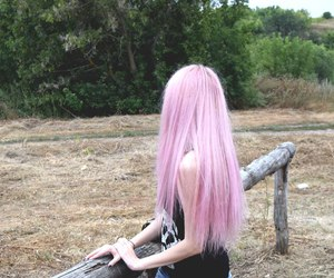 girl, long hair, and pink image