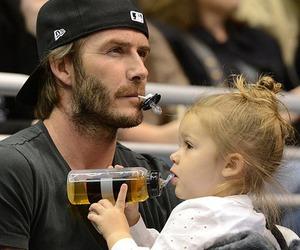 David Beckham, baby, and dad image
